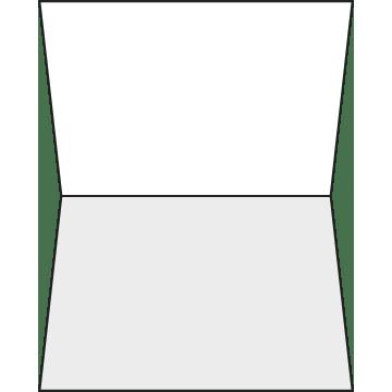 Gevouwen (vouw boven)
